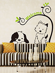 Wall Stickers Wall Decals Style Cartoon Dog Cat PVC Wall Stickers