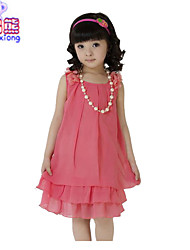 Waboats Kids Girls' Chiffon Bowknot Sleeveless 5-9 Years Dress