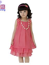 Waboats Kids Girls' Chiffon Bowknot Sleeveless 5-9 Years Dress