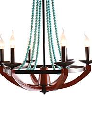 Lustre/Lampe suspendue - Rustique Bois/Bambou