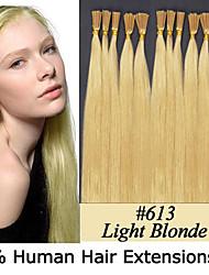 3 Satz 22 Zoll Keratin Stockspitze / i Spitze 0,5 g / s malaysische Menschenhaarverlängerungen 8 Farben für Frauen Schönheit