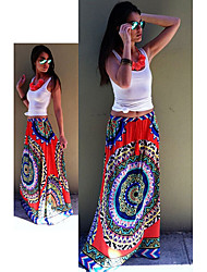 VOV     Women's Skirts , Cotton Sexy/Beach/Casual/Print VOV