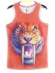 Fashion Men's Animal 3D Print T-Shirt Tank Top Punk Summer Vest Blouse Hot (M-XXL)