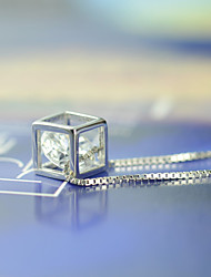 Cute/Party/Work/Casual Sterling Silver/Cubic Zirconia Pendant Necklace