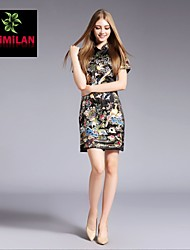 YIMILAN® Women's The New 2015 Heavy Embroidery QiPaoShi Dress