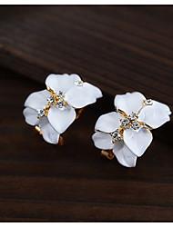 Korean Fashion Gardenia Flower Stud Earrings Cute Acrylic Stud Earrings