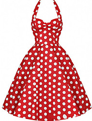 Women's Vintage/Casual/Party Sleeveless Dresses (Polyester)