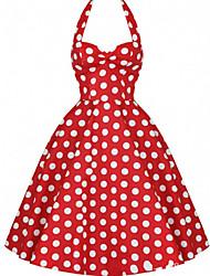 Nikki  Women's Vintage/Casual/Party Sleeveless Dresses (Polyester)