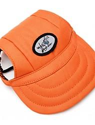Orange Pet Baseball Cap Four Seasons Wear Dog Cat Sun Hat