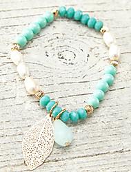 Bracelet Chaîne Perle Cristal/Perle Femme