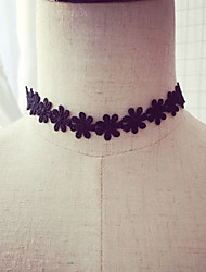 Necklace Choker Necklaces Jewelry Party / Daily Fabric Black 1pc Gift