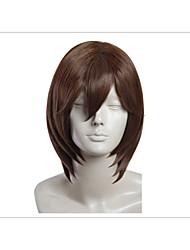 kotobuki cosplay reiji peluca del anime uta no prince sama marrón claro 14 '' recta corta peluca de los hombres