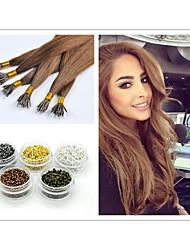 "18""-30""Brazilian Nano Ring Hair Extensions 1g/strand 100g/pc Hair Weaves Bundles Keratin Hair Extension"