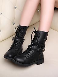 Keilabsatz - 3-6cm - Damenschuhe - Stiefel ( PU , Schwarz )