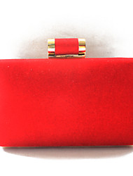 Women's Simple Design Red Designer Clutch Bags Or Evening Bags