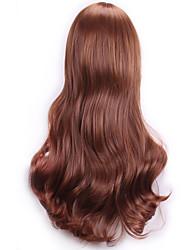 bruns ondulés perruques synthétiques sexy bouclés lumière naturelle réalistes perruques perruques cosplay perruque perruques de cheveux