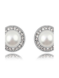 European Style Fashion Playful Princess Pearl Stud Earrings