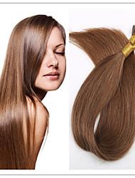"""gerade Art brasilianisches i Spitze reines Menschenhaar 18 """"-28"""" Keratin prebonded Haarverlängerungen 1 g / s 100g / pc 1pc / lot auf"""