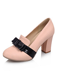 Women's Shoes Microfibre Spring / Summer / Fall Heels Heels Wedding / Office & Career  / Dress / Casual Chunky Heel