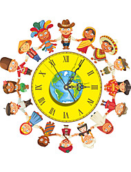 PAG®Morden 3D Effect Hand in Hand World Peace Wall Clock 16.03*15.75 inch / 40.7*40cm