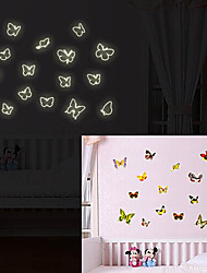 linda borboleta adesivos de parede de moda luminosos adesivos fluorescentes que vivem parede do quarto quarto adesivos