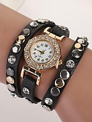 nouvelle star en cuir robe de montre-bracelet de bracelet de style d'été montres haut montre à quartz d'or marque de luxe