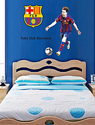 pegatinas de pared Tatuajes de pared, estilo barcelona messi pvc pegatinas de pared