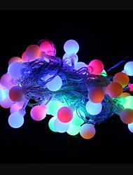 50 levou-decoration feriado natal luz rgb impermeável ao ar livre levou luz seqüência de 9m (AC220V)