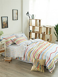 Music Note Bedclothes Comforter Bedding Sets Bed Linen Reversiable Polka Dot 100% Cotton Striped