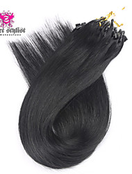 100g/lot Stock Dark Color Mongolian Remy Micro Loop Hair Extensions 20 inch Micro Beads Hair Extensions 100gram NEW!!!