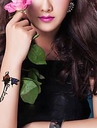 5Pcs Waterproof Rose Flower Butterfly Pattern Temporary Body Art Tattoo Sticker
