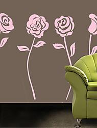 parede adesivos de parede do estilo adesivos de parede flores rosa pvc adesivos