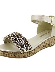 Sandaler ( Guld ) - GIRL - Wedges/Plateau/Rund tå/Åben tå