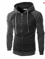 Masculino Trench Coat Médio Estampado Algodão/Poliéster Masculino