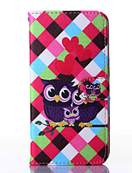 Love Owl Pattern PU Leather Full Body Case with Stand for Multiple HTC Desire 816/M9