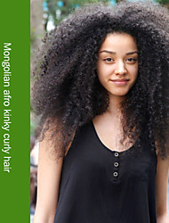 Full Lace Wig Virgin Mongolian Human Hair Afro Kinky Curly Glueless Full Lace Wig For Black Women