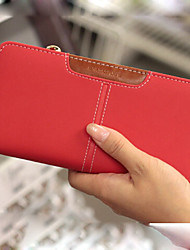 pu wallet Women 's - arancio / marrone / rosso