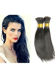 """3pcs / lot 14 """"-34"""" cheveux brésiliens vierges tresser les cheveux en vrac de tressage humaine vrac # 1b droite en vrac de cheveux"""