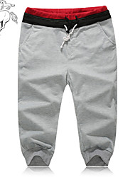 Men's Sweatpants , Casual/Formal/Sport Striped Cotton Blend/Elastic