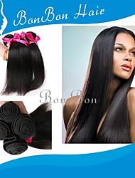"20 ""-26"" 4pcs cabelo virgem brasileiro retas"