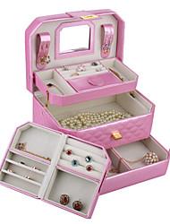 moderne kunstleer sieraden doos opbergdoos kralen kijken moederdag geschenkdoos kunstleer