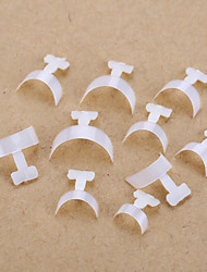 100PCS Mixed Sizes Natural White Nail Art Tip Guides French Tips Guide False Acrylic Tips Decorations