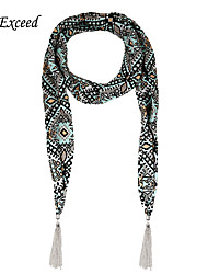 D Exceed Desigual Plaid Scarf Fashion & Elegant Chiffon Winter Scarfs Necklaces For Women's Tassels Jewelry Scarves