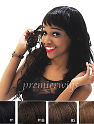 20''Natural Curly Machine Made Wigs Virgin Brazilian Human Hair Wigs With Baby Hair For Black Women