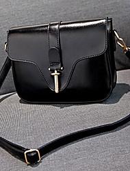 Women 's PU Baguette Shoulder Bag - White/Blue/Red/Black