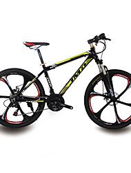 jmd21 bicicleta de montaña de aluminio velocidad. para hombres y mujeres. zt50 de línea, freno de disco doble, bloqueo tenedor frontal.