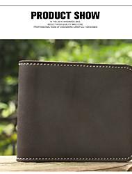 New Men's Short Wallet Purse Retro Minimalist Leather Wallet Purse