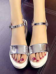 Sakura   Women's Shoes Gold/Silver Wedge Heel 3-6cm Sandals