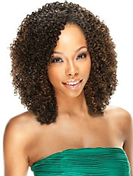 New  Fashion 10-30inch 100% Brazilian Human Hair Afro Kinky Curly Natural Color Lace Front Wig