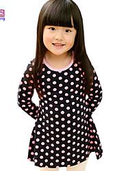 Waboats Winter Kids Girls Bow Zipper Dot Princess Dress